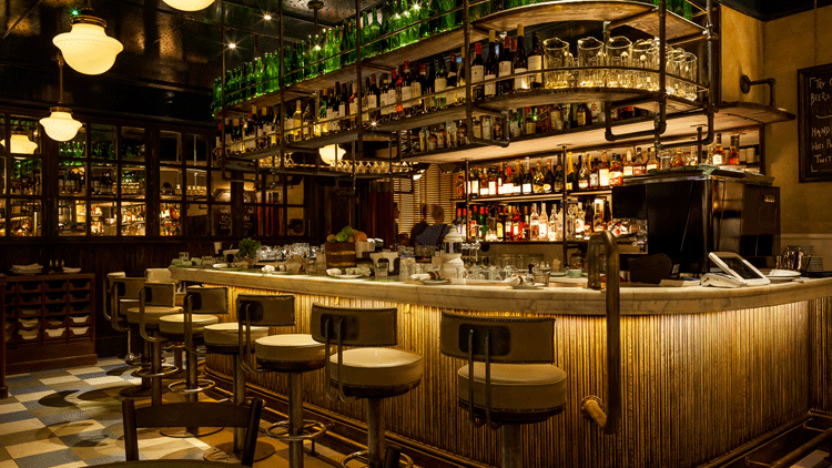 Illuminazione Bar bancone